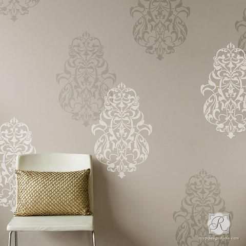 Bohemian Moroccan Decor With Large Wall Stencils   Royal Design Studio Part 83