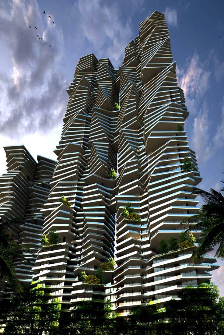 Infinity at Worli, Mumbai, India. Uso mixto, altura  200 mts;  rascacielos en proceso.