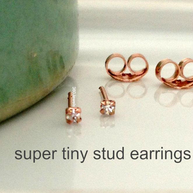 Super tiny diamond stud earrings for men men's stud by 360Jewels