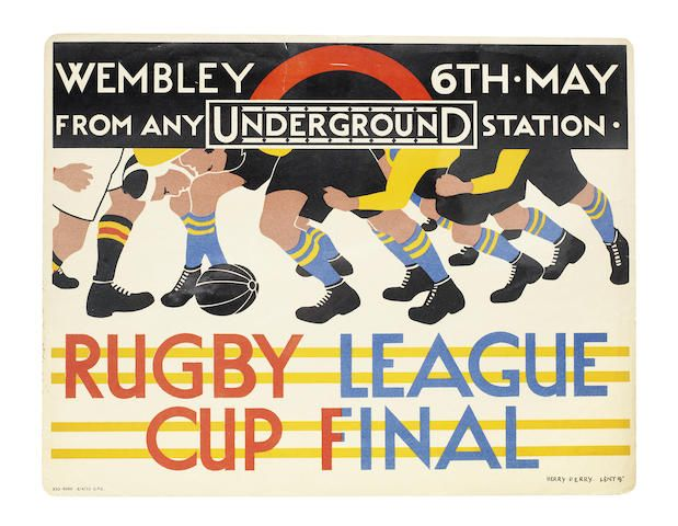 Herry (Heather) Perry (1893-1962) RUGBY LEAGUE CUP FINAL, 1933