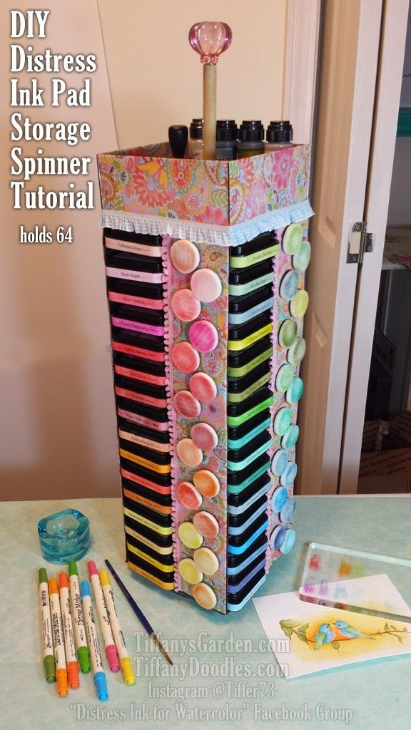 DIY Distress Ink Pad Storage Spinner Tutorial!