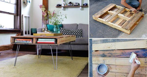 La pieza central de este proyecto es un pallet. No necesitarás mucho para lograr convertir esta madera en una moderna mesa ratona.