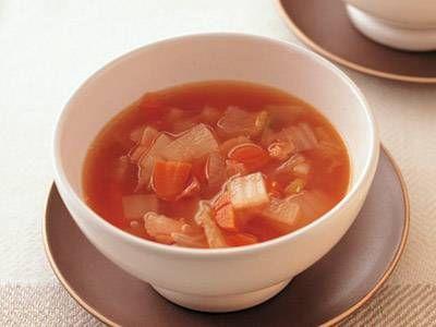 ミネストローネ風スープレシピ 講師は高城 順子さん|残った野菜をバターで炒めてトマトケチャップで煮るだけ! 冷蔵庫の野菜を総動員させましょう。