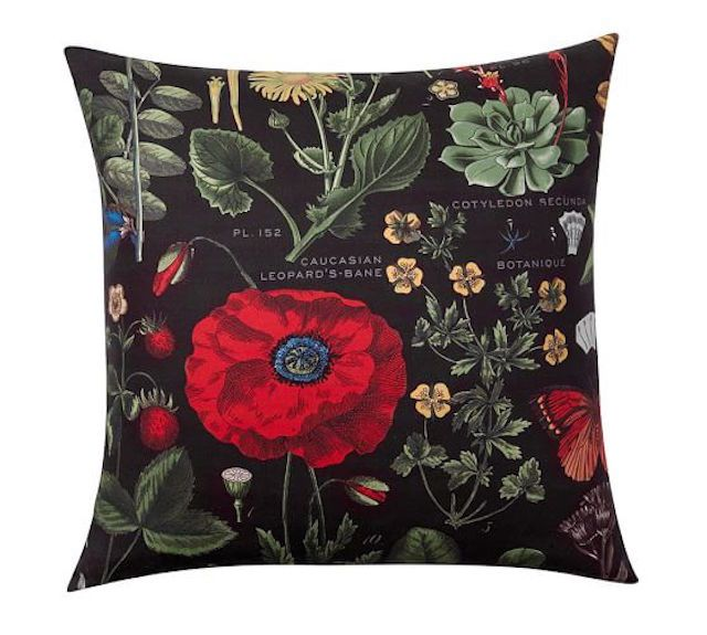 10 Of The Most Stunning Throw Pillows For 2016: Pottery Barn Poppy Botanical Print Pillow