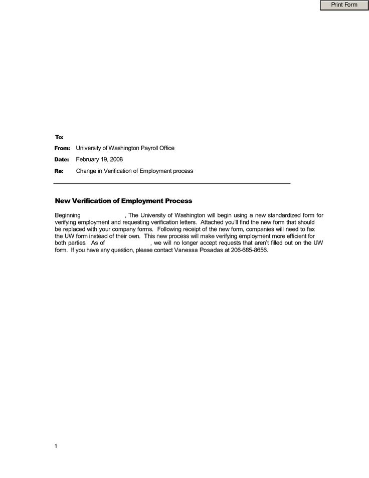 employment verification template the doc sample proof