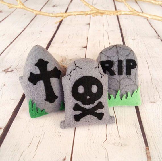 Halloween decoración lápidas tumba Cruz RIP cráneo juguete
