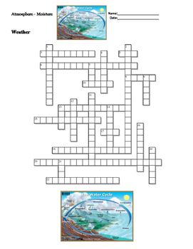 This packet consists of two activities for Atmosphere and Moisture. The first activity is a crossword puzzle.  The second activity is a fill in the blank worksheet with a word bank included.  A word list of vocabulary used in this packet.Following is a list of words included in the activities:Cirrus, Cloud, Condensation, Cumulus, Dew, Dew point, Evaporation, Fog, Frost, Hail, Heat of fusion, Heat of vaporization, Humidity, Precipitation, Rain, Rain gauge, Relative humidity, Saturated air…