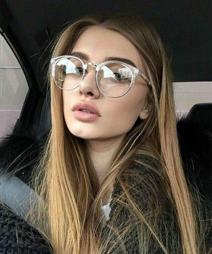 lunettes vue femme en gris oeil de chat