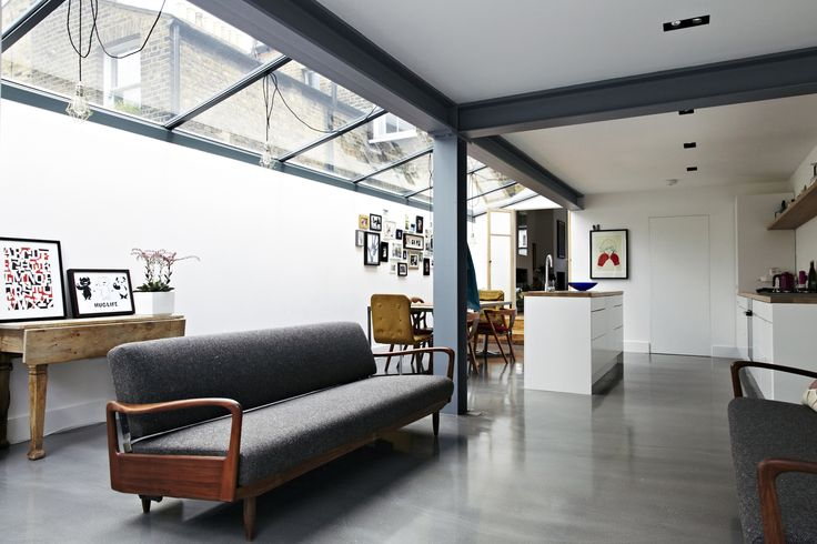 Edward Bennett | Architect Side return extension. Beautiful skylight, exposed steels.