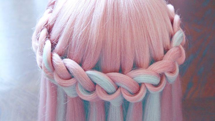 "Причёска - ""Водопад"" из петелек - Hair tutorial - Hairstyles by REM"
