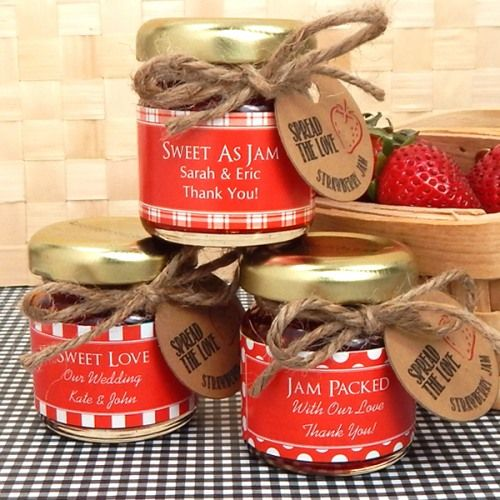 Personalized Bridal Jam Favor by Beau-coup