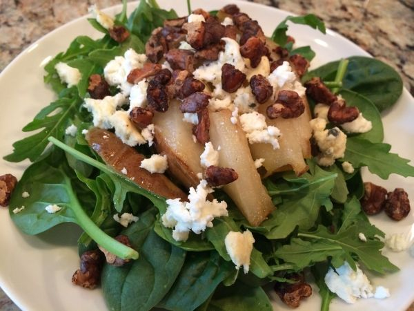 This is a nice change to a fresh salad! I've been using walnut oil more recently after hearing that consumption of walnuts or walnut oil has been shown to lower total cholesterol, LDL (bad …