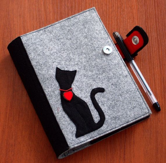 Refillable Felt Journal Cover Felt Notebook by CuteGiftsAndCrafts