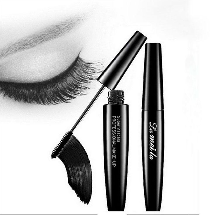 [Visit to Buy] Professional Brand Makeup 3d Fiber Silicon Brush Head Eyelash Extensions Thick Curling Black Mascara Waterproof Cosmetics  #Advertisement