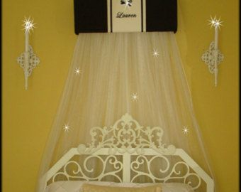 Bed Crown Canopy Personalized Curtains SALE by SoZoeyBoutique