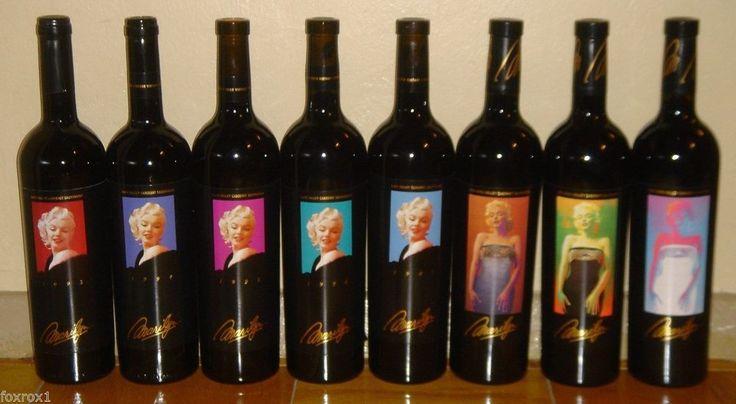 1993 - 2000 Marilyn Monroe Cabernet Sauvignon 8 Bottle Collection Set New Full  #Cabernet