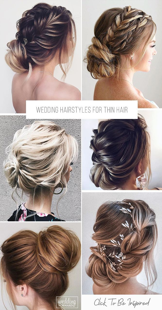 30 Best Ideas Of Wedding Hairstyles For Thin Hair Wedding Forward Hair Styles Hairstyles For Thin Hair Grad Hairstyles