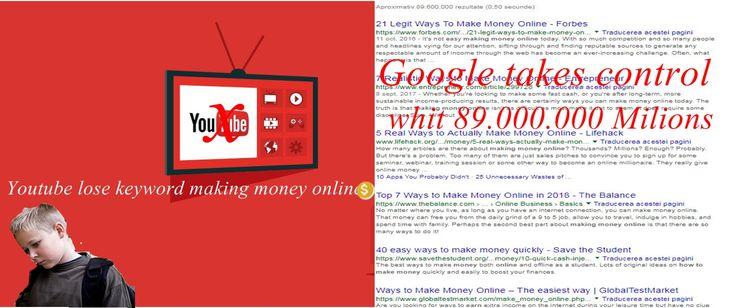 Youtube pierde cuvantul keye (a face bani online)