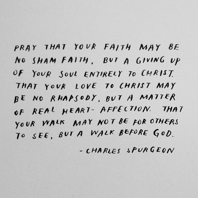 prayer for faith, by Spurgeon || handwritten by madebysohn