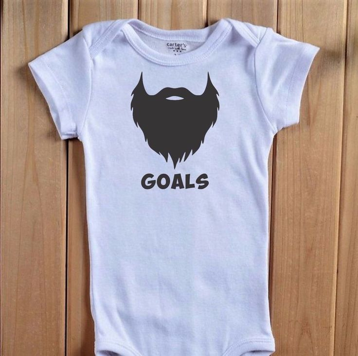 BEARD GOALS Baby One Piece Bodysuit Shirt Funny Uncle Dad Shower Gift Redneck Si #BabeNotIncluded #Everyday