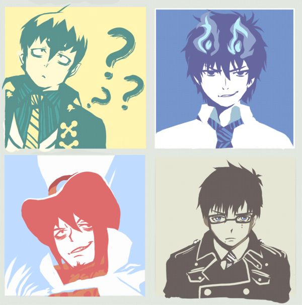 Ao no Exorscribbles 2 by SiriuslyLupine03 on deviantART<<< AWWW THEY'RE SO CUTE!!, besides Amaimon, he's just insane