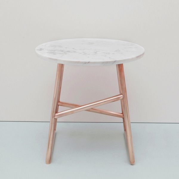Algedi Table, Copper/Marble  (with a timber top though) - love those legs!