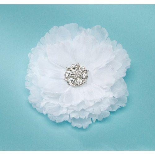 Something Blue - David Tutera - Bridal Collection - Hair Comb - Flower With Rhinestone Center - White, R183.00 (http://www.somethingblue.co.za/david-tutera-bridal-collection-hair-comb-flower-with-rhinestone-center-white/)