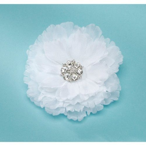 Something Blue - David Tutera - Bridal Collection - Hair Comb - Flower With Rhinestone Center - White, R183.00 (http://www.somethingblue.co.za/david-tutera-bridal-collection-hair-comb-flower-with-rhinestone-center-white/)