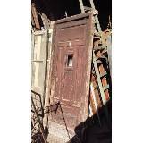 Puerta Crucera, Vidrio Repartido, Cedro. Demolición. - $ 600,00 en Mercado Libre