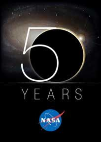 """Check out the impressive Flash Timeline developed for NASA's 50th anniversary. Click """"Interactive Feature"""" on the lower left."""