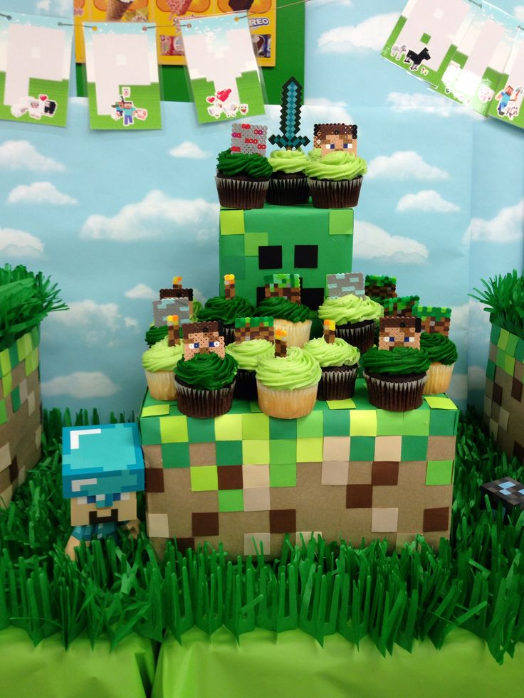 Pin minecraft tower cake ideas and designs