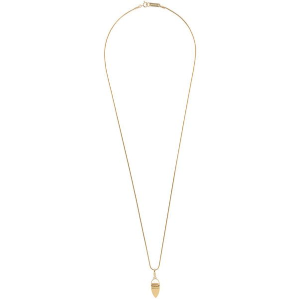 Isabel Marant long pendant necklace ($175) ❤ liked on Polyvore featuring jewelry, necklaces, chain necklace, gold tone necklace, long chain pendant, long brass necklace and pendant necklaces