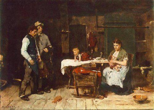 Mihaly Munkacsy (1844 – 1900, Hungarian) Biboulous Husband