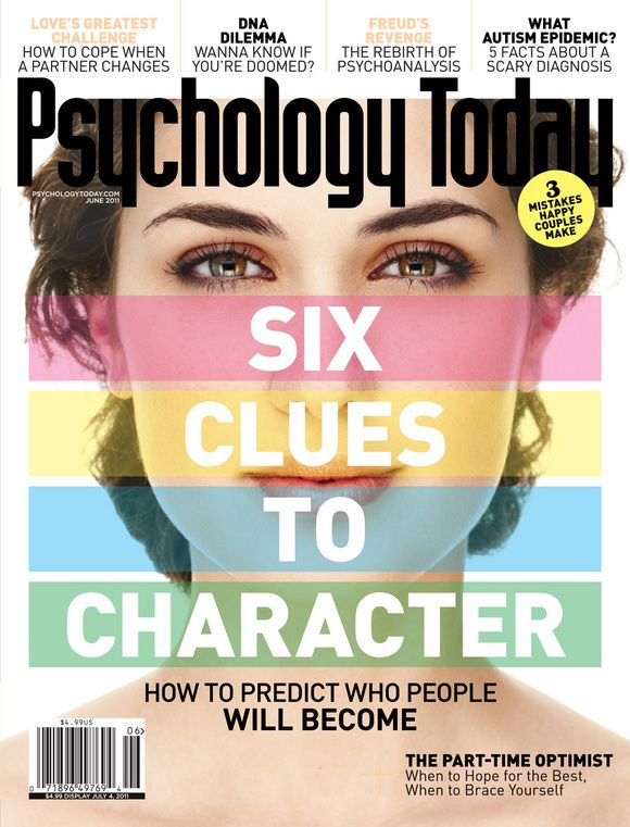 Psychology Today, May/June 2011  Creative Director: Edward Levine  Photo Editor: Claudia Stefezius  Photographer: Nigel Parry  #SPDcoveroftheday