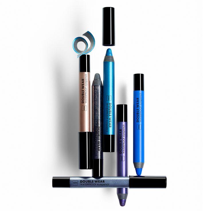 Onze double wear waterproof eyepencils kunnen gebruikt worden als eyeliner en als oogschaduw.