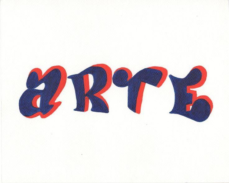 Tipografía popular (acrílico sobre papel fabriano)