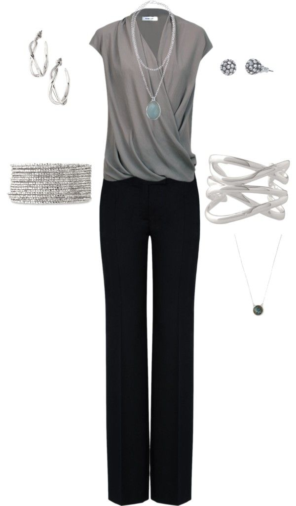 Love the simple, elegant look of the gray with all the accessories | www.stelladot.com/amandacarson