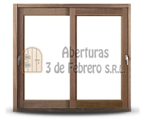 Vetana madera corrediza - Mod. Madera Ventanas - Tradicional | Aberturas 3 de Febrero S.R.L.