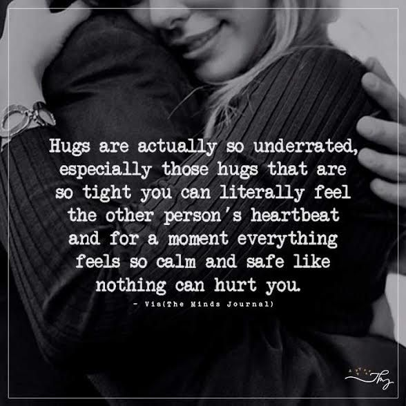 Hugs are actually so underrated