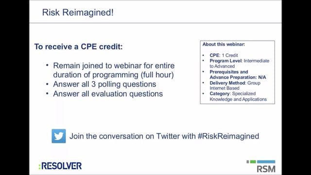 #RiskReimagined Series - The Importance of People and Culture to Effective Risk Management. Click here to watch now: https://vimeo.com/148270571