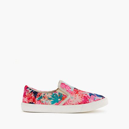 J.Crew+-+Girls'+slide+sneakers+in+stacked+floral