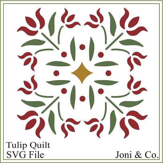 svg quilt quilting cricut transfer iron tulip