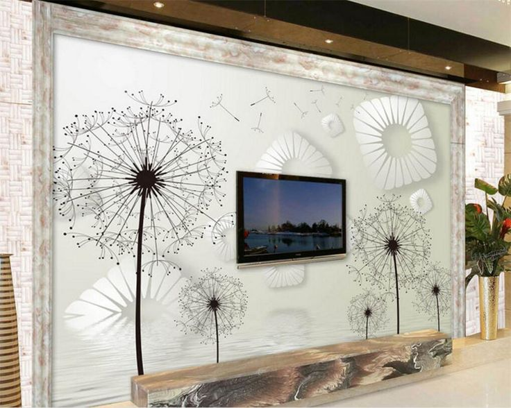 Beibehang Wallpaper For Walls Living Room Custom Wallpaper Dandelion Photo  Wallpaper 3D Living Room Room Wall Part 74