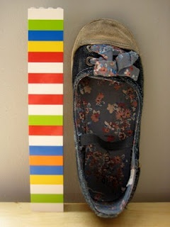 Use legos for non-standard measurement. Children can compare and/or record shoe size results