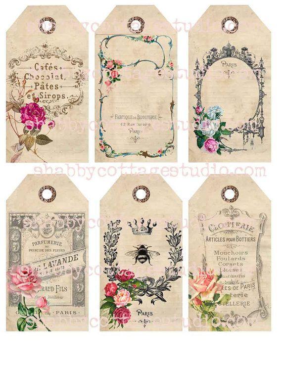 66 best images about vintage perfume labels on pinterest - Decoupage collage a imprimer ...