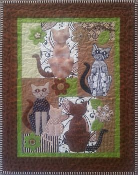 Mary's Cat Quilt made using #templates from #Carol's #Quilts - Stunning!