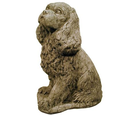 Dog Statue Lawn Ornament Animal Statue Cavalier King
