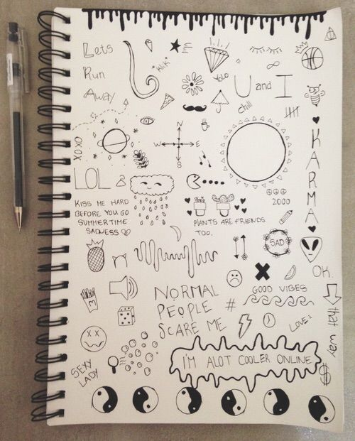 Image via We Heart It #drawing #loveit #notebookdoodles