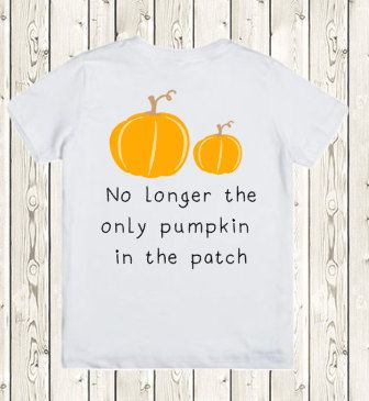 Halloween Pregnancy Announcement Idea for big brother or big sister / baby number 2 pregnancy reveal onesie / Pumpkin Patch tshirt or onesie by The1stYearBaby on Etsy