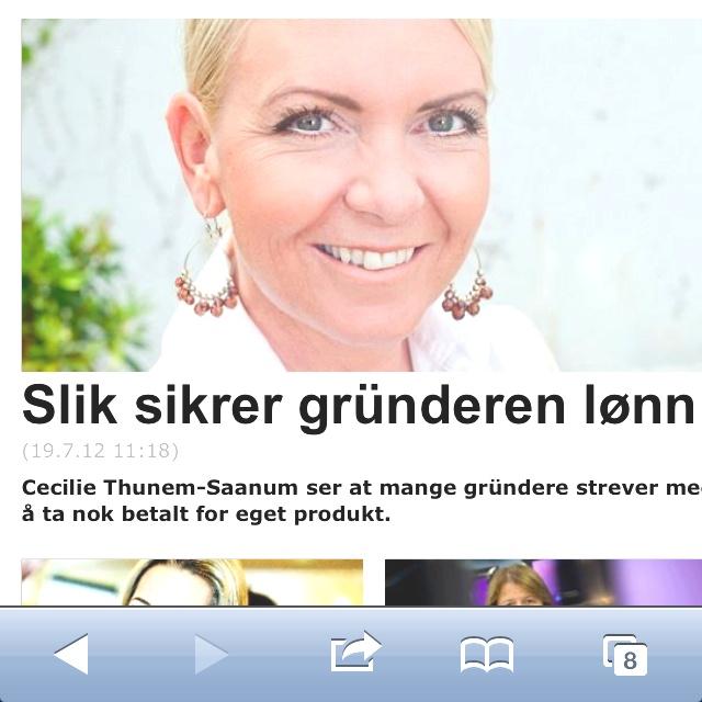 Gründerintervju i Hegnar: http://www.hegnar.no/kvinner/article699696.ece